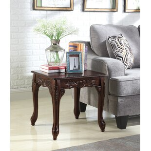 Longoria Traditional Ornate Detailing Wood End Table