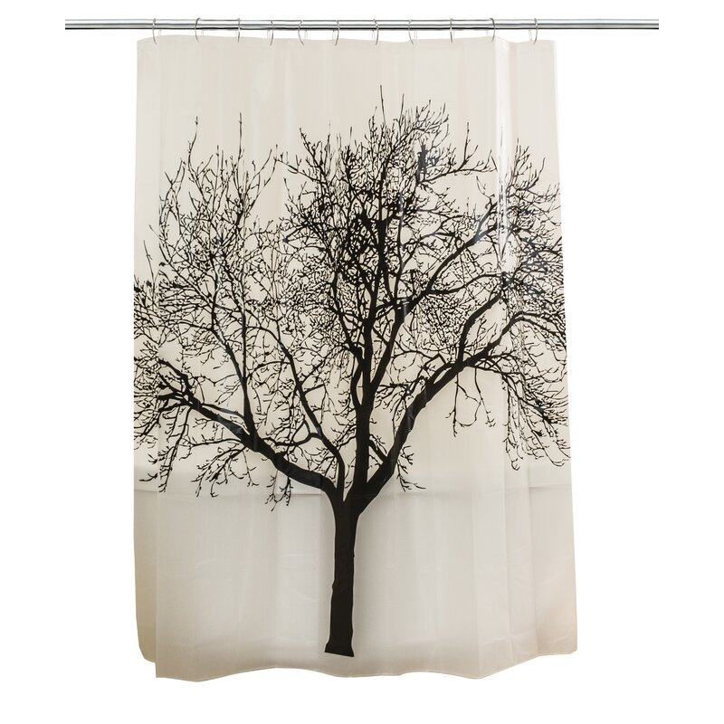Ogema Fog Forest Fabric Shower Curtain