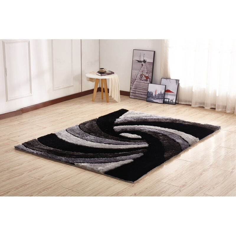 bedside carpet läuferset 3 pieces Shaggy Shaggy bed frame