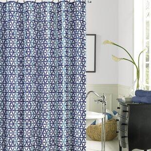 Decicco Printed Single Shower Curtain