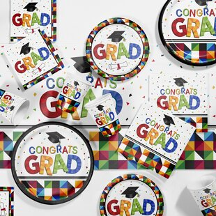 Fractal Fun Graduation Party Paper/Plastic Supplies Kit