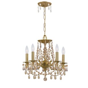 Hernadez 5-Light Crystal Chandelier by House of Hampton