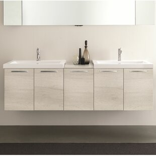 Mission 69 Wall Mounted Double Bathroom Vanity Set by Orren Ellis