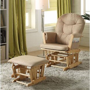 Red Barrel Studio Grose Transitional Glider and Ottoman