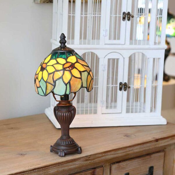 River Of Goods Sunflower Blossoms Tiffany Style Stained Glass 12 Quot Table Lamp Amp Reviews Wayfair