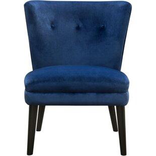 Rische Velvet Upholstered Wooden Parsons Chair