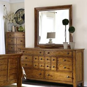 Truet 16 Drawer Dresser with Mirror