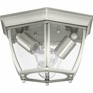Dunmore 2-Light Outdoor Flush Mount by Alcott Hill Amazing
