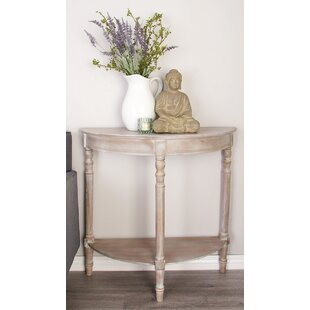 Wood Half Round Console Table