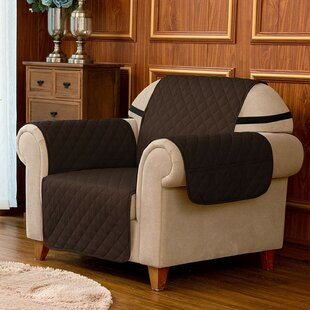 Quilted Reversible Box Cushion Armchair Slipcover
