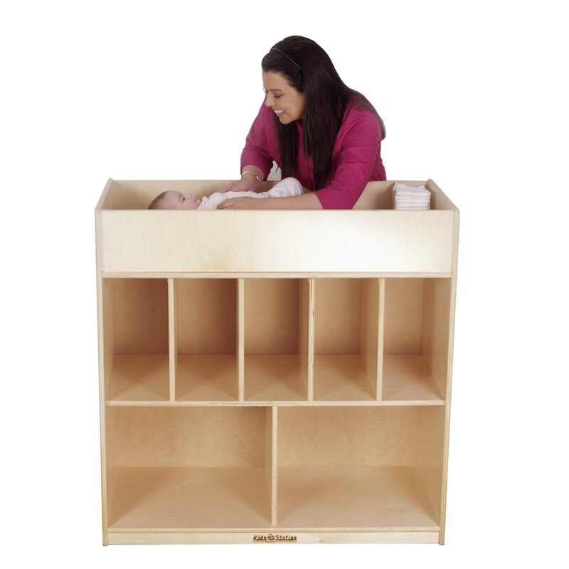 Preschool Changing Table Storage Cubby