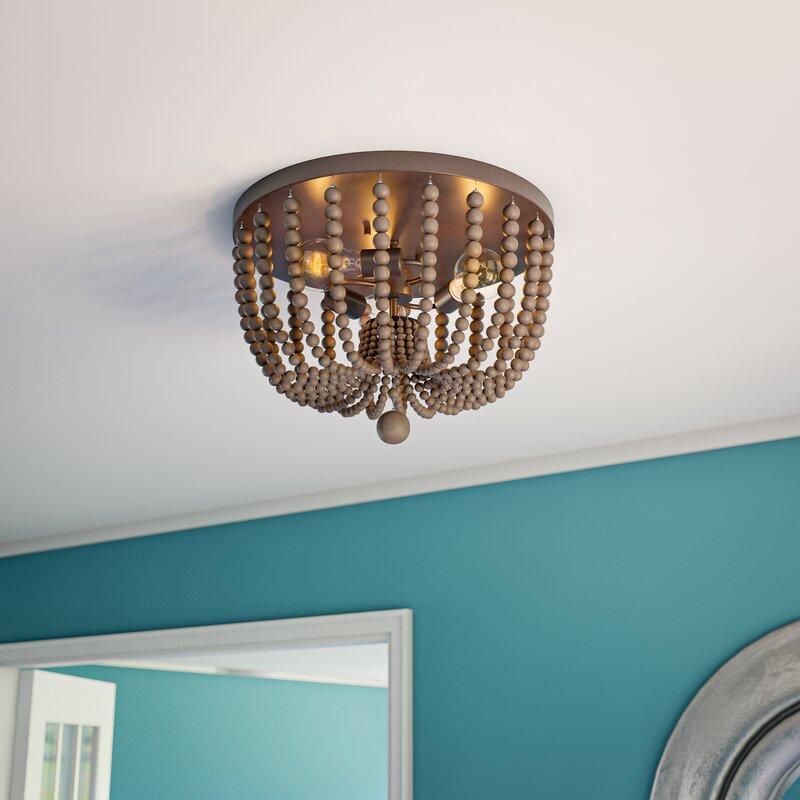 Bay Isle Home Tilden 3 Light 16 Unique Statement Geometric Flush Mount Reviews Wayfair Ca