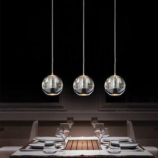 island chandelier lighting. Perrier 3-Light Kitchen Island Pendant Chandelier Lighting W