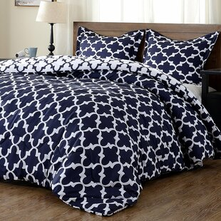 Manzella Lightweight Printed Hypoallergenic Down Alternative Reversible Comforter