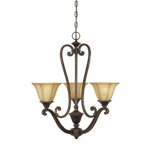Fleur De Lis Living Canas 3-Light Shaded Chandelier