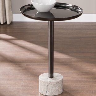 Norris Marble-Base Tray Table