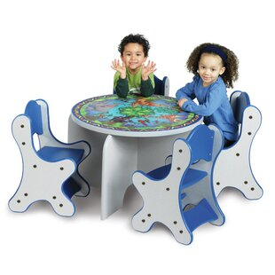 Find a Animal Families Kids 5 Piece Table and Chair Set By Playscapes