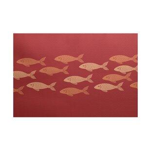 Golden Lakes Coral Indoor/Outdoor Area Rug