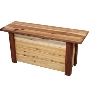 Cedar Storage Bench by Gronomics