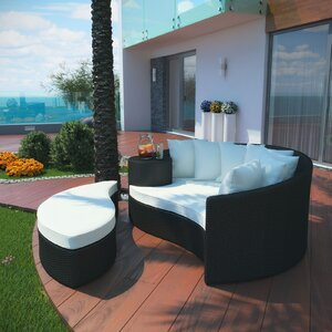 Greening Outdoor Daybed with Ottoman & Cushions