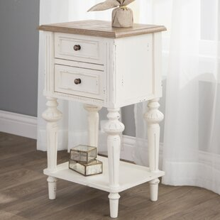 Saire Indoor 2 Drawer End Table