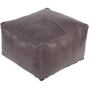 Brower Leather Pouf by Trule T..