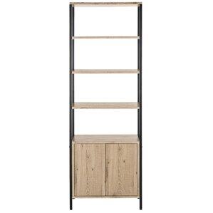 konola mid century wood etagere bookcase