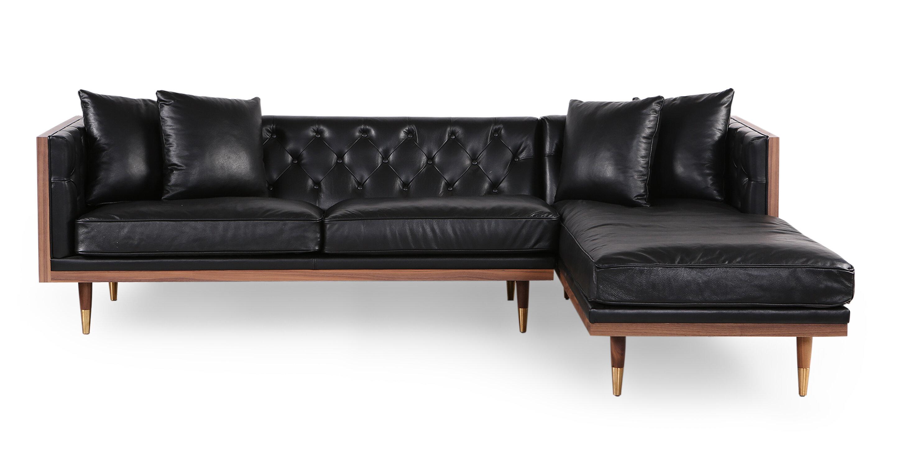 Groovy Leyla Mid Century Sectional Theyellowbook Wood Chair Design Ideas Theyellowbookinfo