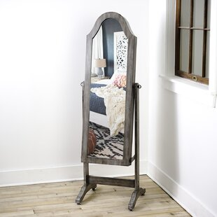 Online Reviews Bell Shape Free Standing Jewelry Armoire with Mirror ByLaurel Foundry Modern Farmhouse