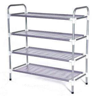 Compare prices Tower Shelf 15 Pair Shoe Rack By Rebrilliant