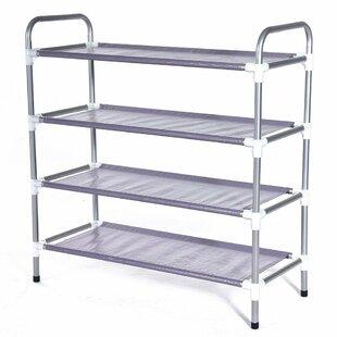 Reviews Tower Shelf 15 Pair Shoe Rack By Rebrilliant