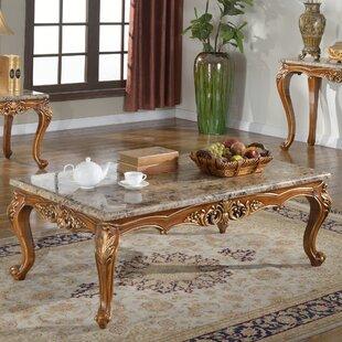 BestMasterFurniture Marble Coffee Table