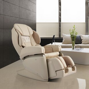 4D Ultra Premium Reclining Heated Full Body Massage Chair with Ottoman by Latitude Run
