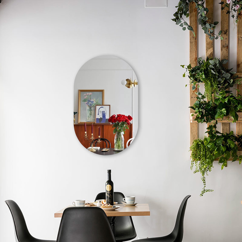 Latitude Run Reflection Beveled Frameless Wall Mirror Wayfair