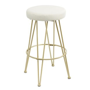 Barnet Upholstered 29'' Bar Stool by Wrought Studio
