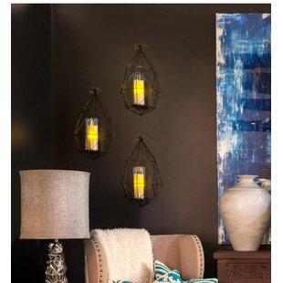 Wall Metal and Glass Lantern
