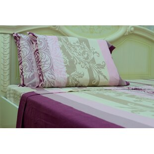 Myaa Nature/Floral 190 Thread Count 100% Cotton Sheet Set