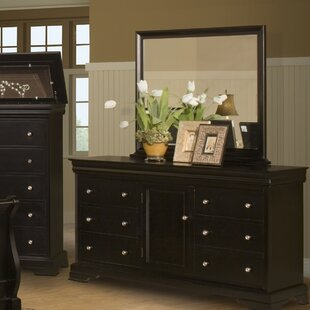 Jarvis 6 Drawer Combo Dresser with Mirror by Alcott Hill