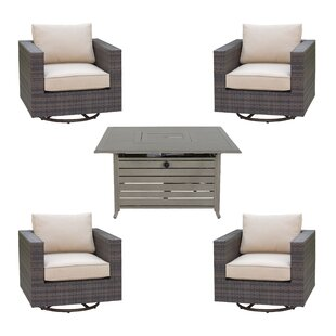 Brayden Studio Lara 5 Piece Sectional Set with Cushions
