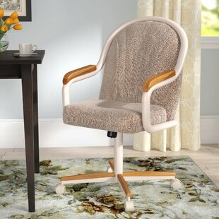 Gentry Mid Back Dining Caster Chair With Arms
