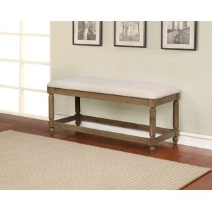 Reviews Armino Wood Bench By Gracie Oaks