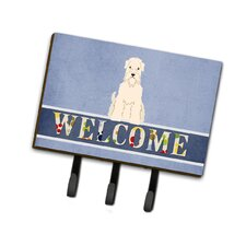 Soft Coated Wheaten Terrier Welcome Leash or Key Holder by Caroline's Treasures