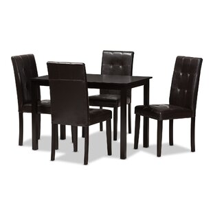 Rosenberry Modern and Contemporary 5 Piece Dining Set Latitude Run