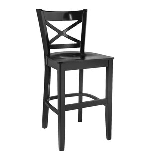 Brockton Crossback 24 Bar Stool Winston Porter