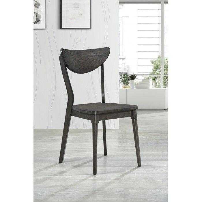 Groovy Rogan Open Back Dining Chairs Dark Grey Set Of 2 Dailytribune Chair Design For Home Dailytribuneorg