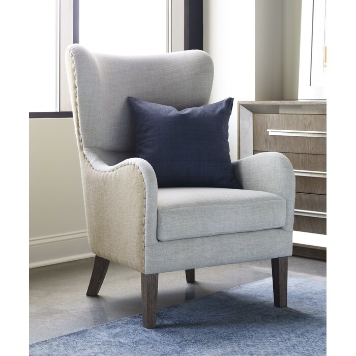 tommy hilfiger twotoned wingback chair