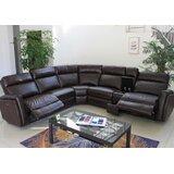 Ruairi 127 Wide Faux Leather Symmetrical Reclining Corner Sectional by Latitude Run®