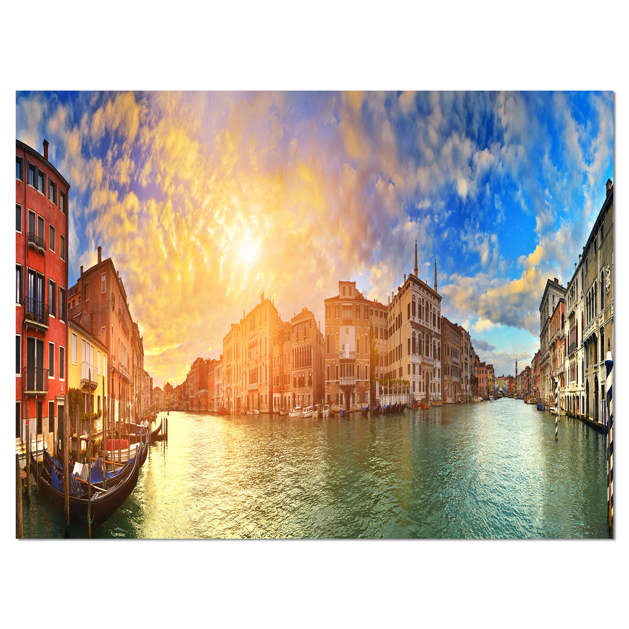 Designart Grand Canal Venice Panorama Photographic Print On Wrapped Canvas Wayfair