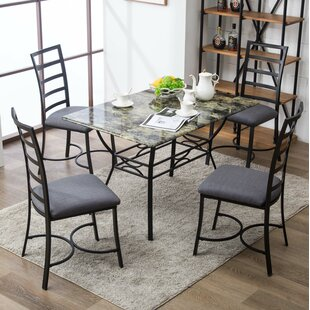 Stemple 5 Piece Dining Set by Red Barrel Studio