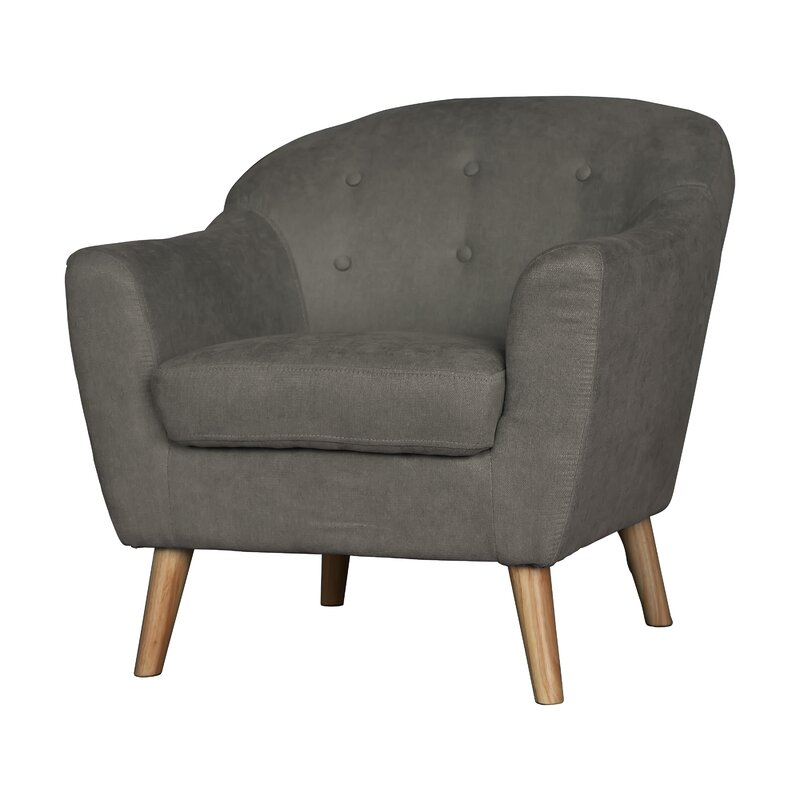 Zendejas Mid Century Modern Barrel Chair